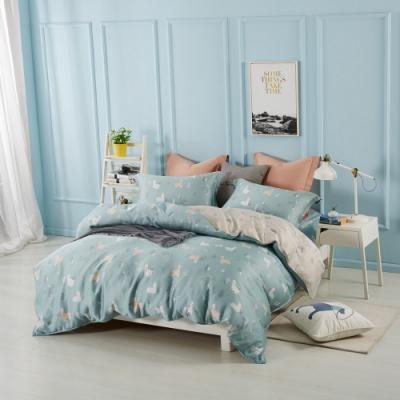 夢工場宛如童話40支紗萊賽爾天絲四件式兩用被床包組-特大