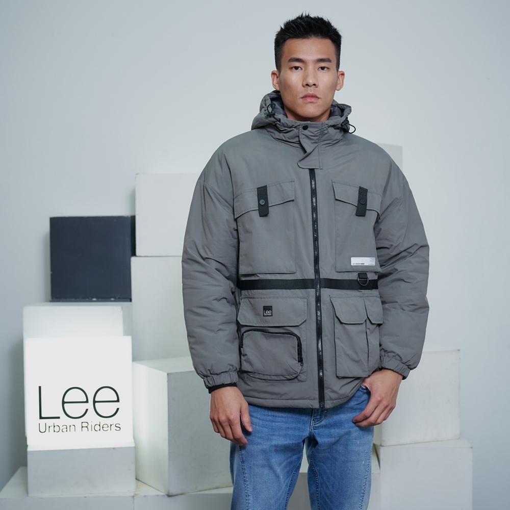 Lee 連帽鋪棉外套 UR 男款 淺灰色