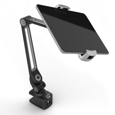 LEDETECH 鋁合金懶人夾式手機平板架(LD-203BBK)黑色