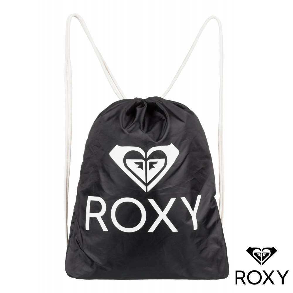 【ROXY】LIGHT AS A FEATHER SOLID 束口後背包 黑