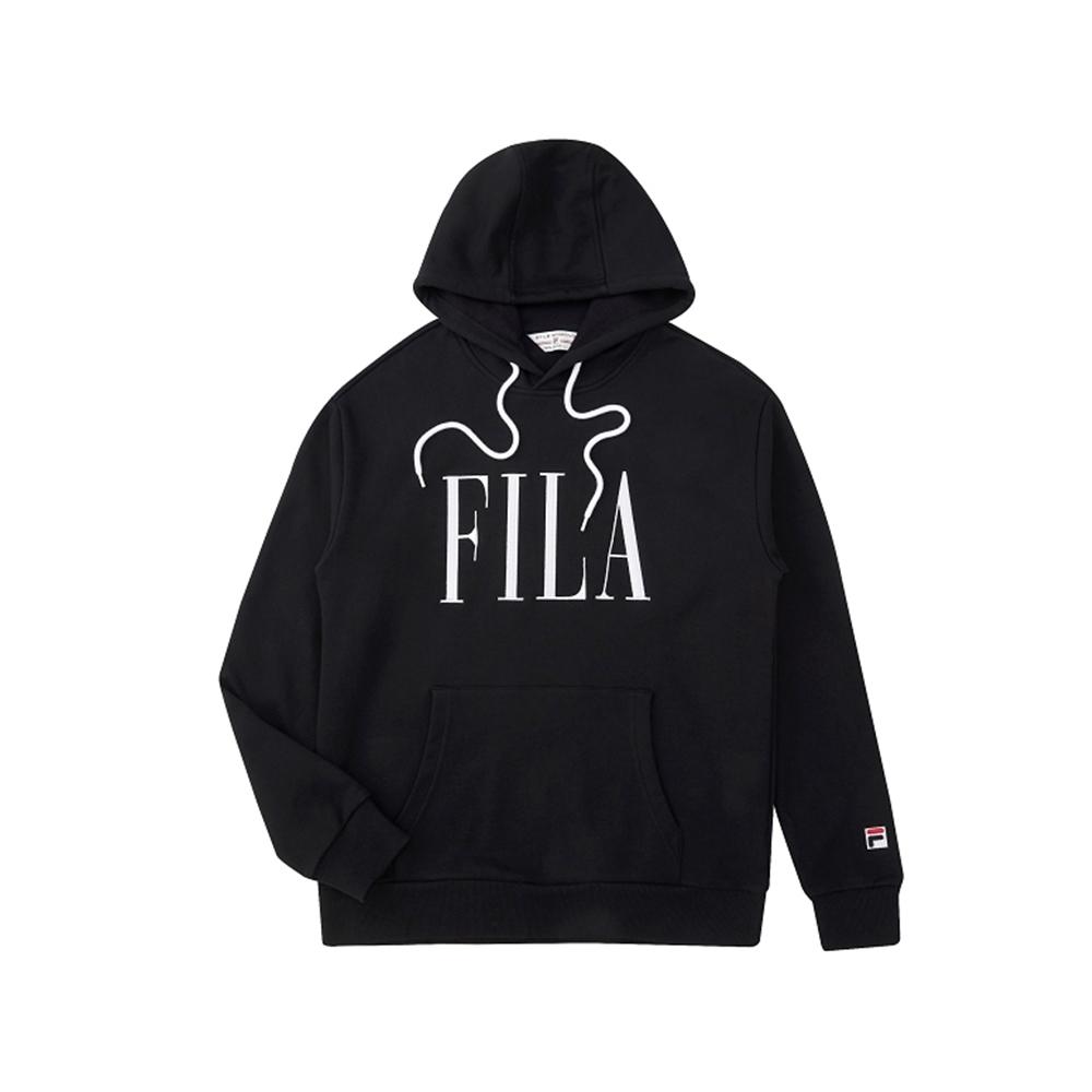 FILA 長袖連帽T恤-黑色 1TEU-5460-BK