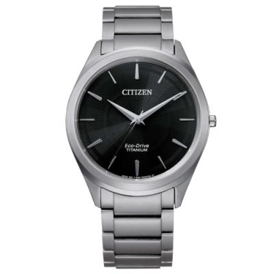 CITIZEN 極簡鈦金屬光動能腕錶BJ6520-82E