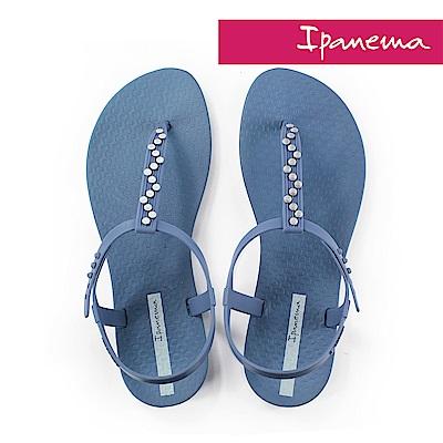 IPANEMA 典雅絢麗T字涼鞋-孔雀藍