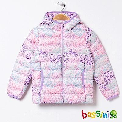 bossini女童-90/10極輕羽絨外套02粉紫