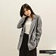 H:CONNECT 韓國品牌 女裝 -俐落棉麻格紋西裝外套-黑色 product thumbnail 1