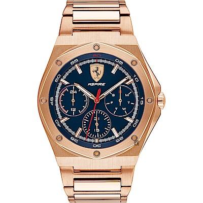 Scuderia Ferrari 法拉利 奔馳日曆手錶(FA0830536)-藍x42mm
