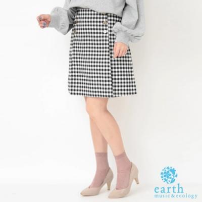 earth music  格紋/素面短裙
