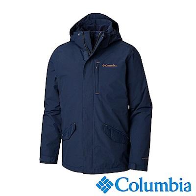 Columbia哥倫比亞 男款-Omni-HEAT 保暖防水兩件式外套-藍