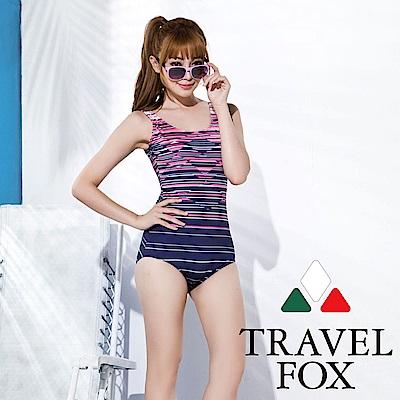 TRAVEL FOX 加大碼連身三角泳衣