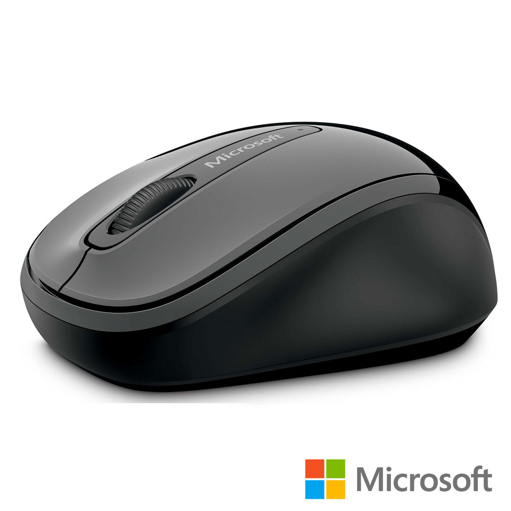 微軟 無線行動滑鼠 3500 - 灰黑 盒裝