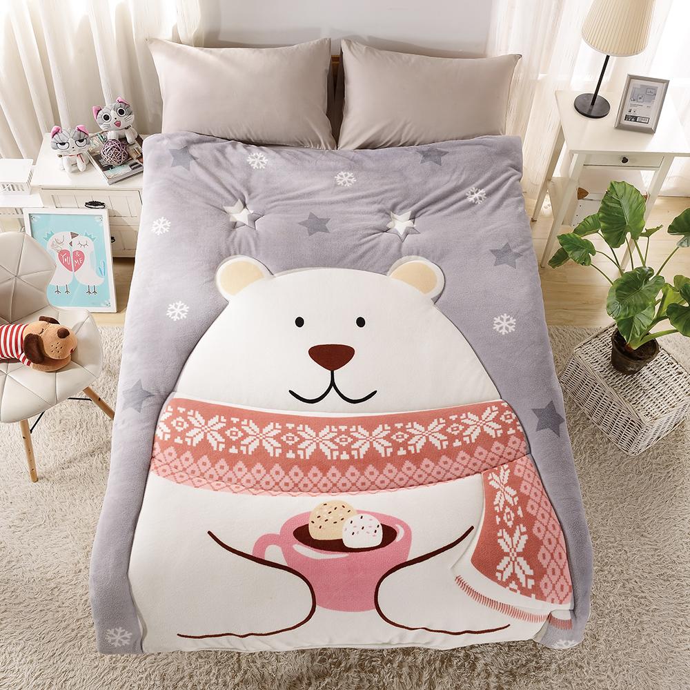 Grace Life 可愛造型多用途定位冷氣毯一入-雪花熊 @ Y!購物