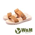W&M微厚底雙帶涼拖鞋 女鞋 - 駝色(另有裸色)