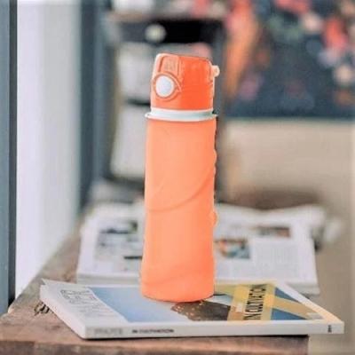 仁舟淨塑 捲捲矽水瓶750ml-朝陽橘