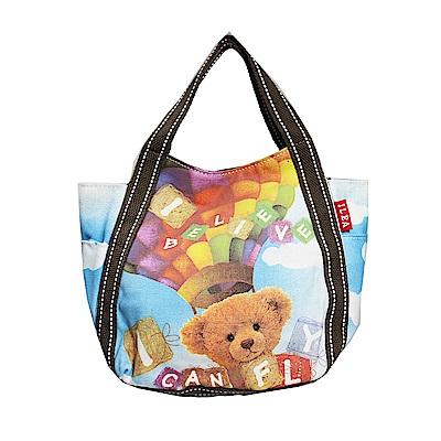 DF Queenin - 日本銷量NO.1休閒款x熱氣球熊購物包-小款