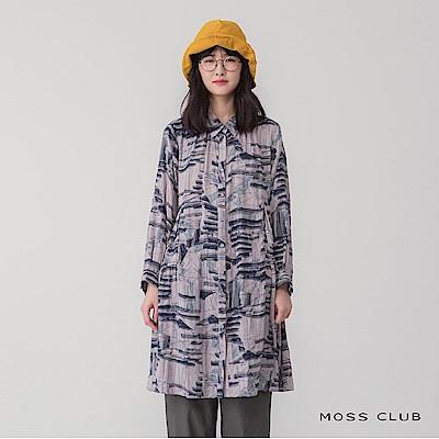 MOSS CLUB 文青造型長版-連身裙(共兩色)