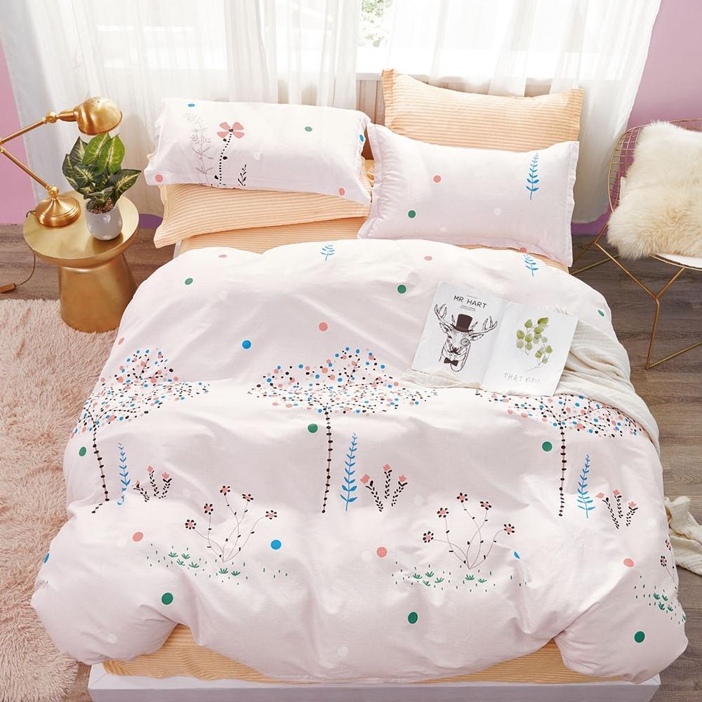 (限時下殺) La Lune台灣製精梳棉床包被套組 單/雙/大均價 (幸福星空樹)