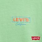 Levis 女款 短袖T恤 寬鬆中短版 高密度膠印Logo 美式復古風 抹茶綠