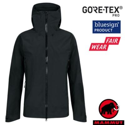 長毛象 男新款 Gore Tex Pro 頂級防水透氣耐磨風雨衣.夾克_黑
