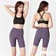 韓國 STL Yoga leggings FREE LINE 5『無尷尬線+高腰』韓國瑜珈 訓練拉提 自由曲線緊身5分短褲 芋紫灰SoftPurple product thumbnail 1