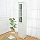 Birdie南亞塑鋼-1.1尺二門二抽塑鋼隙縫收納櫃/防水浴室櫃/縫隙邊櫃(白色)-32x36.5x188cm product thumbnail 1