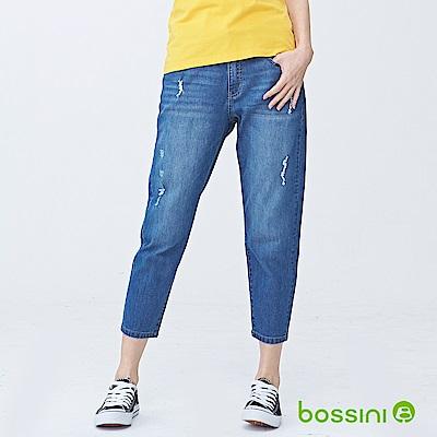 bossini女裝-舒適牛仔9分褲02靛藍