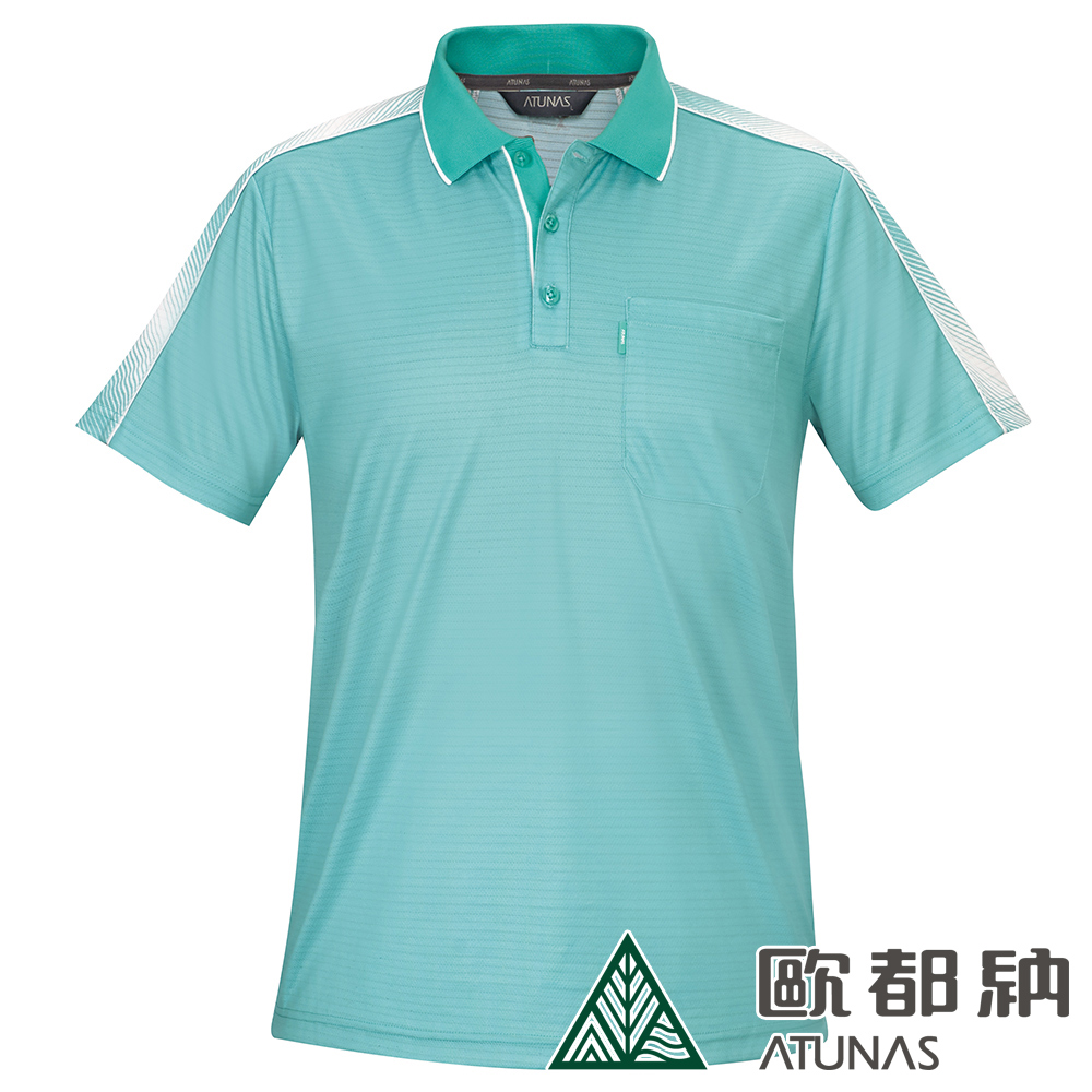 【ATUNAS 歐都納】男款X-STATIC短袖POLO衫A-P1903M薄荷綠