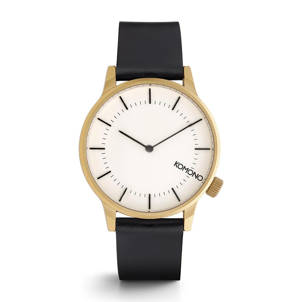 KOMONO Winston Regal 腕錶-黑金/41mm