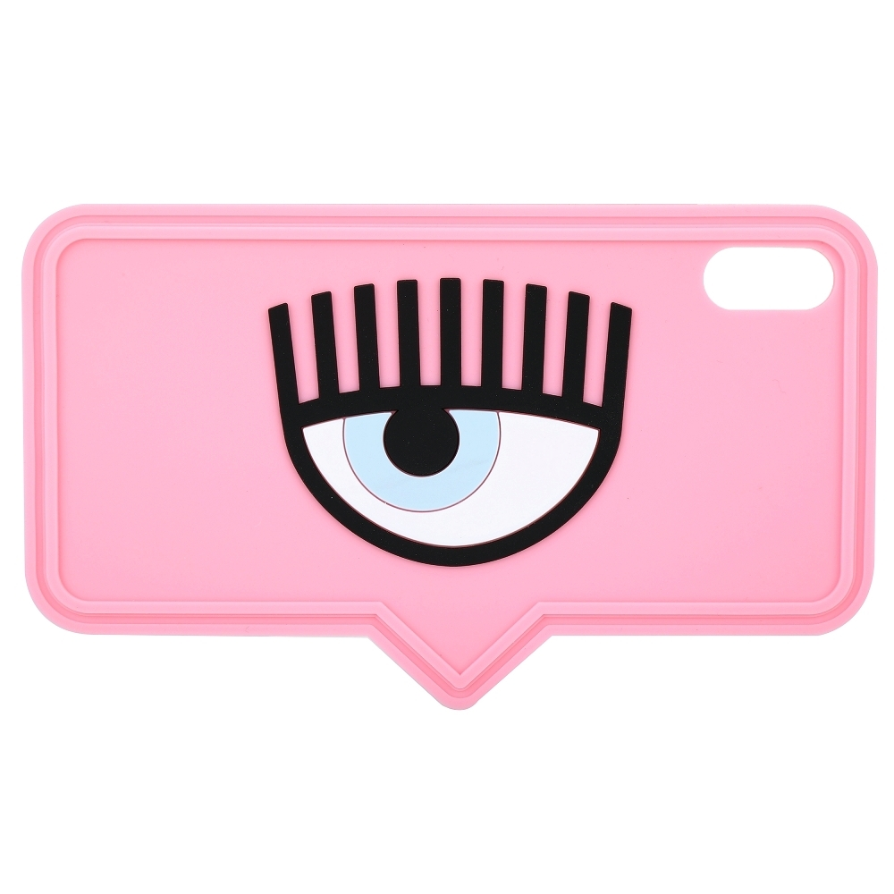 Chiara Ferragni iPhone XS Max 眼睛對話框造型手機保護套(粉色)