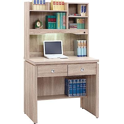 綠活居 莎薇3尺書桌/電腦桌組合(二色)-89.4x57.3x160.5cm-免組