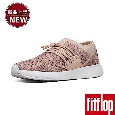 FitFlop STRIPKNIT LACE-UP SNEAKERS-玫瑰金