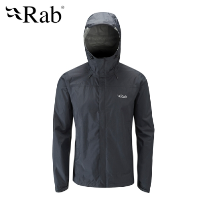 【RAB】Downpour Jacket 高透氣防水外套 男款 黑色 #QWF61