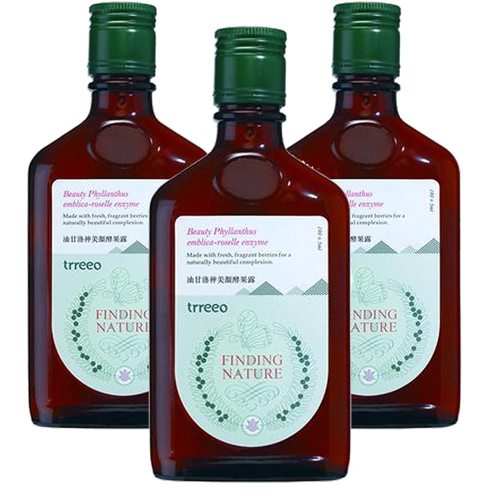 樹重奏 油甘洛神美顏酵果露3瓶組(190±5ml/瓶)