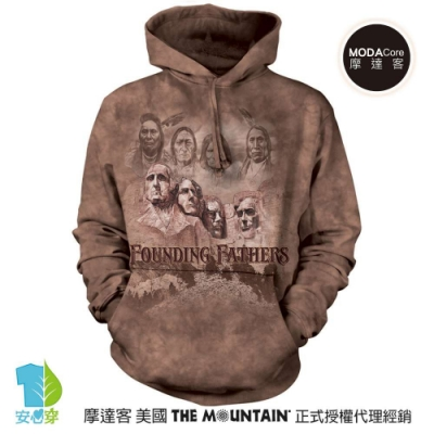摩達客 美國The Mountain 拓荒者 環保藝術長袖連帽T恤