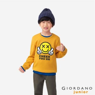 GIORDANO  童裝CHEER YOU ON大學T恤 - 06 侏儸紀黃金