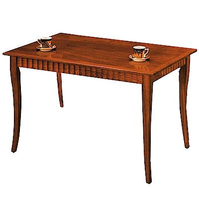 綠活居 溫尼莎時尚4.<b>2</b>尺木紋餐桌(二色可選)-126x81x75cm-免組