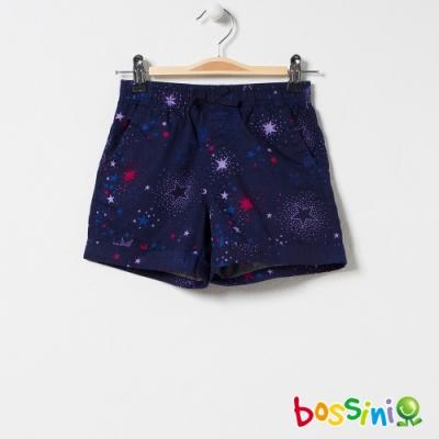 bossini女童-印花輕便短褲05藏藍色