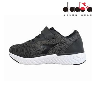 Diadora 歐風運動童鞋 大童 加寬楦 黑 DA9AKC7890