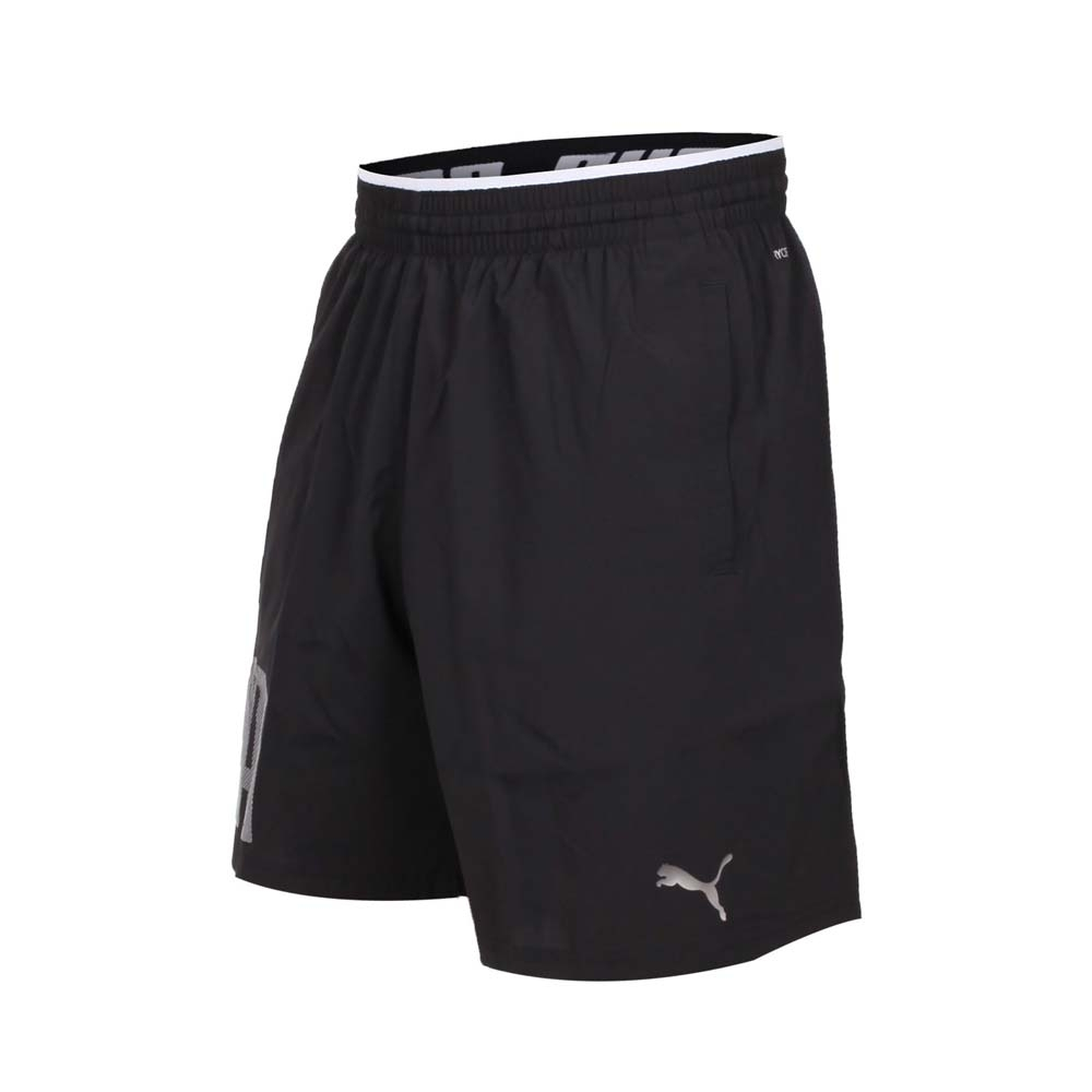 PUMA 男 訓練系列9吋短風褲 黑銀
