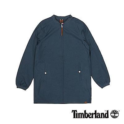Timberland 女款星空藍DV Mt Holly長版飛行外套