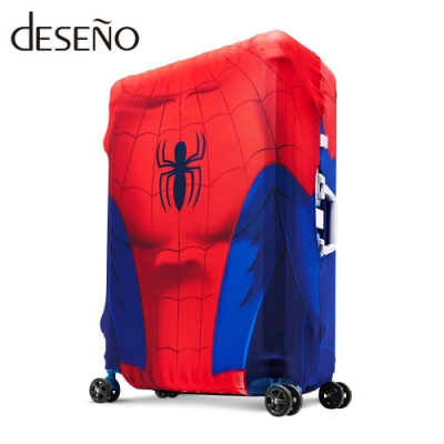 Marvel 漫威英雄造型防刮彈性行李箱套-蜘蛛人(M)