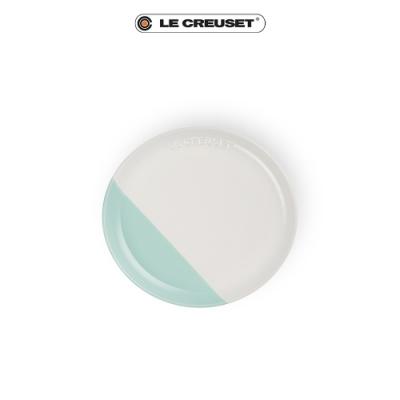 [結帳7折] LE CREUSET瓷器花蕾系列餐盤17cm-棉花白/甜薄荷