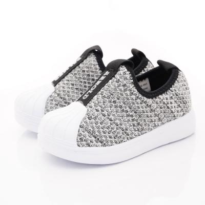 雨傘牌 針織學步貝殼鞋款 EI93603灰(中小童段)