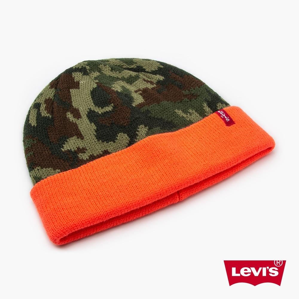 Levis 男女同款 毛帽 復古迷彩 撞色帽緣