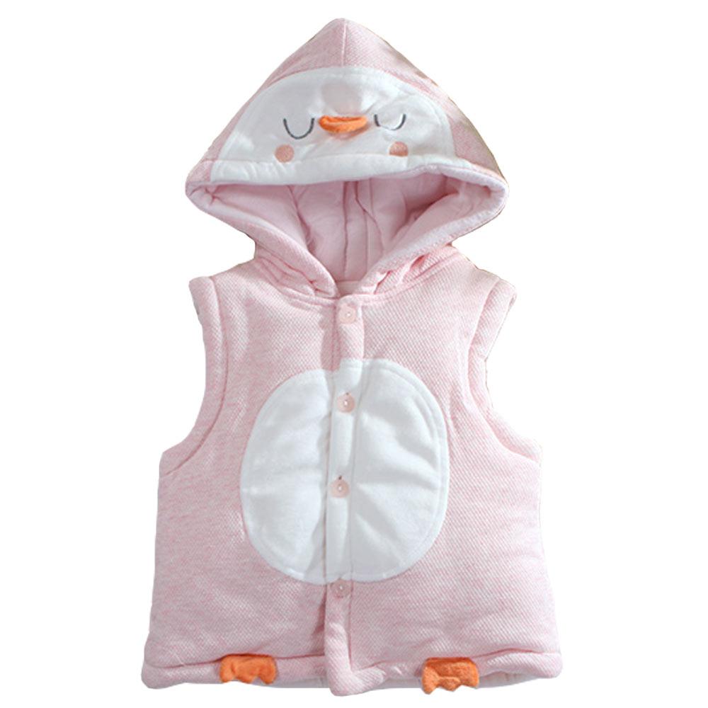 魔法Baby企鵝造型厚棉連帽背心外套 k60922