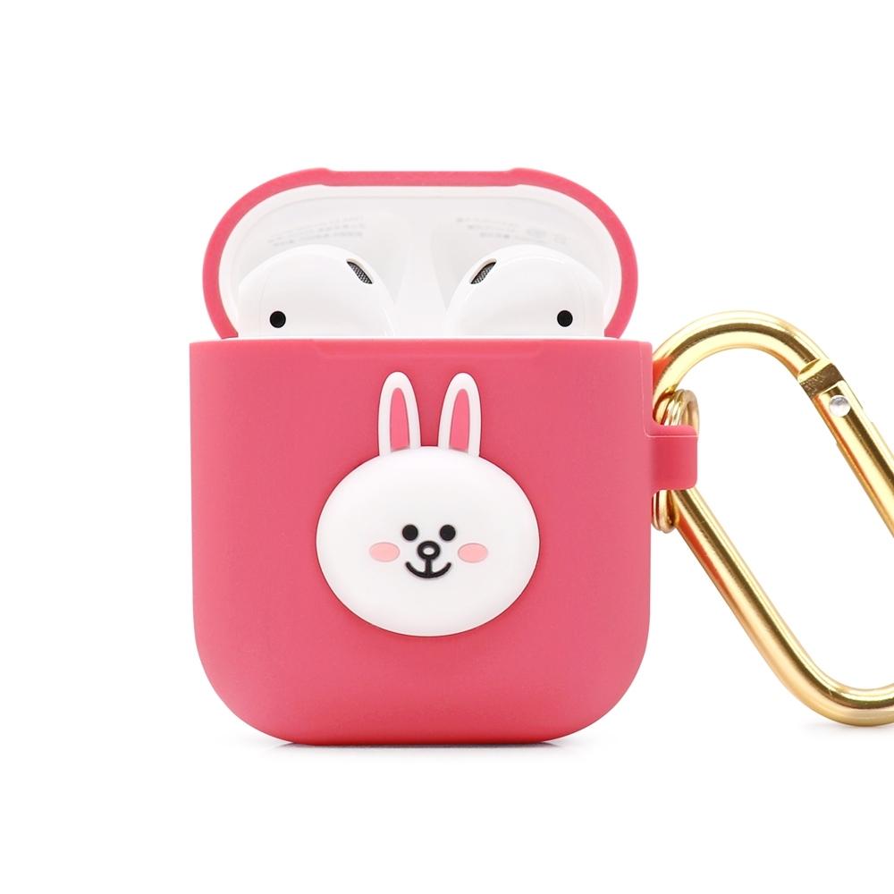 GARMMA LINE FRIENDS AirPods 1&2代藍芽耳機盒保護套 兔兔