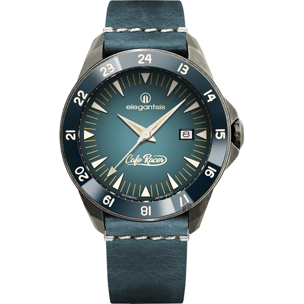 elegantsis x CafeRacer 經典復古機械錶-44mm