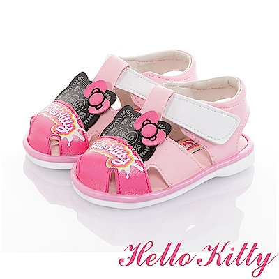 HelloKitty 輕量減壓吸震寶寶學步嗶嗶涼鞋童鞋-粉