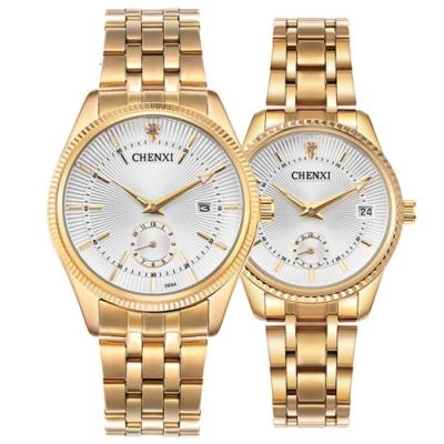 Mirabelle尊爵閃耀 高貴金不鏽鋼男女對錶 白面34+39mm