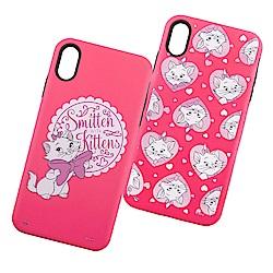 Disney迪士尼iPhone XR磨沙雙料殼_瑪莉貓系列