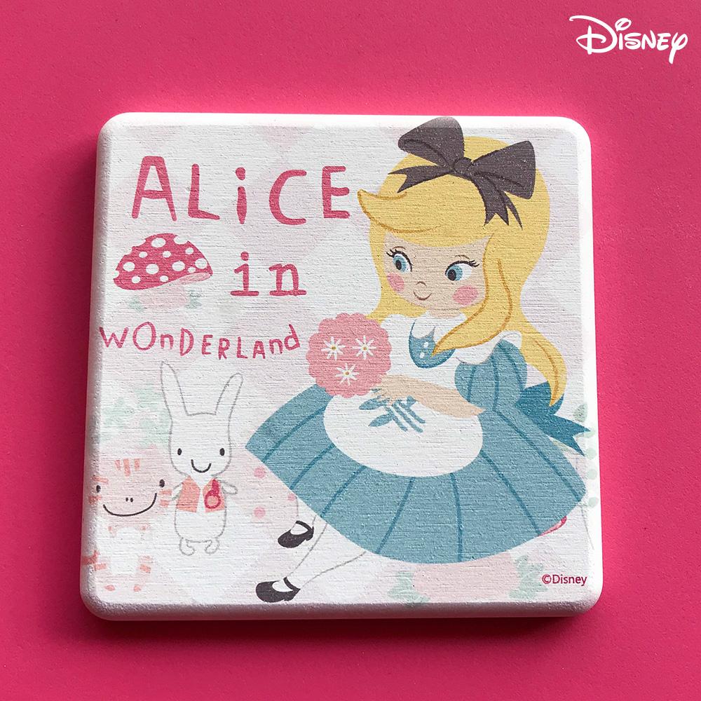 【收納皇后】迪士尼授權珪藻土愛麗絲夢遊仙境吸水杯墊